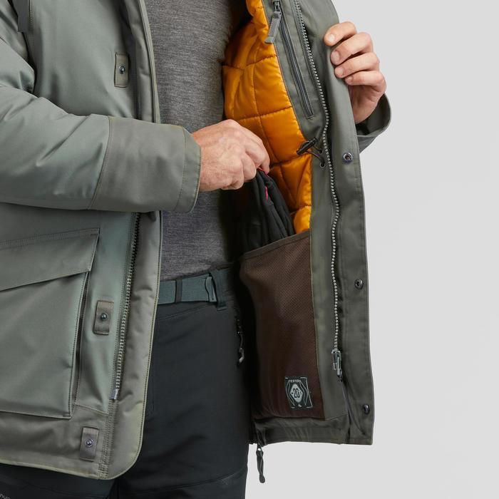 Winterjacke Parka Winterwandern SH500 Ultra-warm Herren khaki