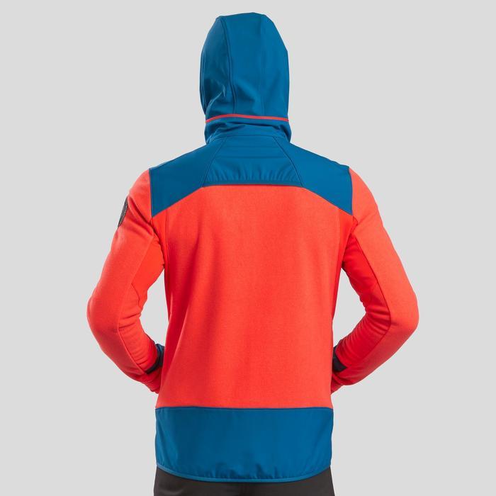 Fleecejacke Stretch Winterwandern SH500 Extra-Warm Herren rot/blau