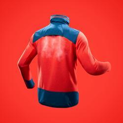 Veste polaire de randonnée neige homme SH500 x-warm rouge bleue.