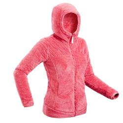 Women's Ultra-Warm Snow Hiking Fleece Jacket SH100 - Pink