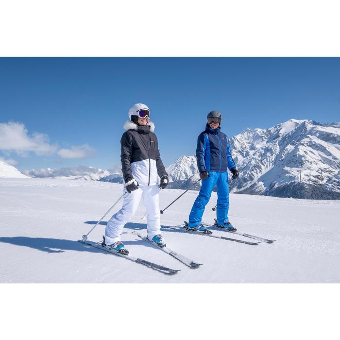 男款下坡滑雪外套180 - 灰色與黑色