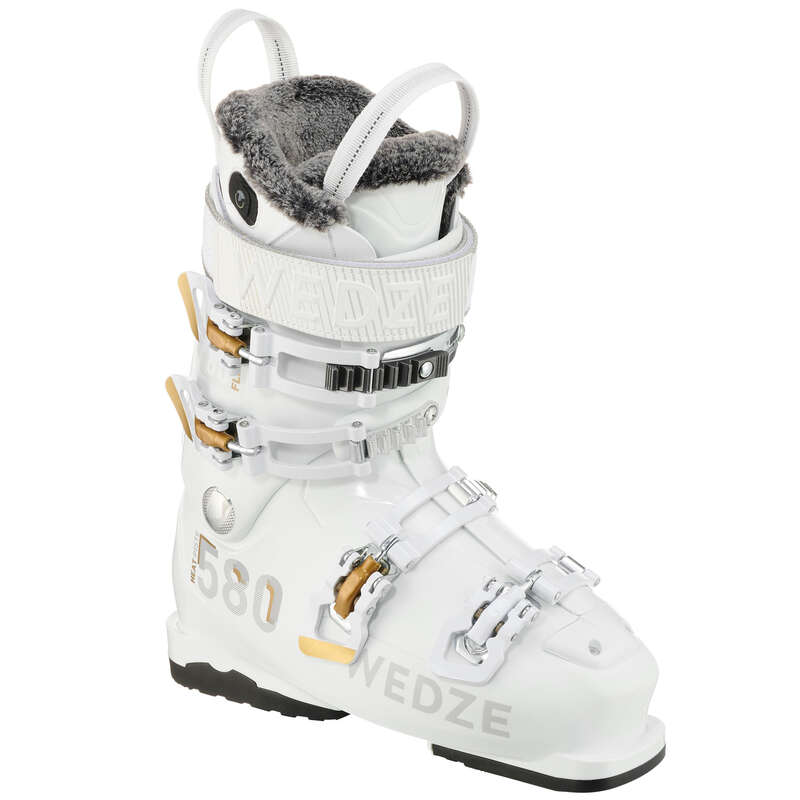 WOMEN'S SKI BOOTS INTERMED. SKIERS Skiing - WOMEN'S D-SKI BOOT HEAT 580 WEDZE - Ski Equipment