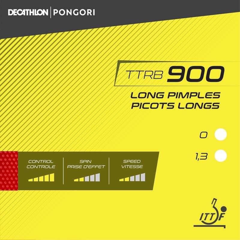 ÜTŐFÁK/BORÍTÁSOK/KIEGÉSZÍTŐK Pingpong - Pingpongütő borítás TTRB 900  PONGORI - Pingponglabda, ütő, ütőfa, borítás