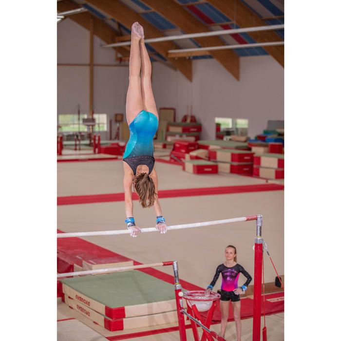 Gymnastikanzug Turnanzug ärmellos 900 grün