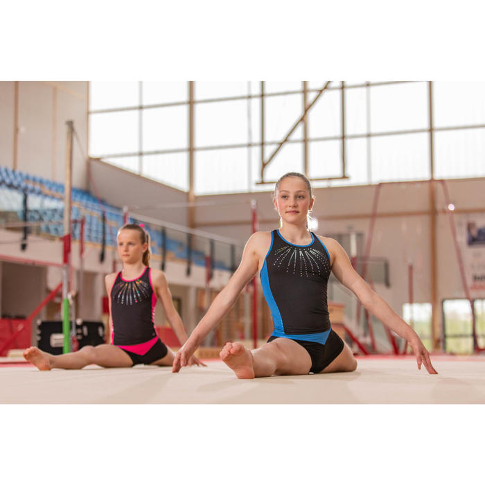 Top bleu 500 Gymnastique Artistique féminine