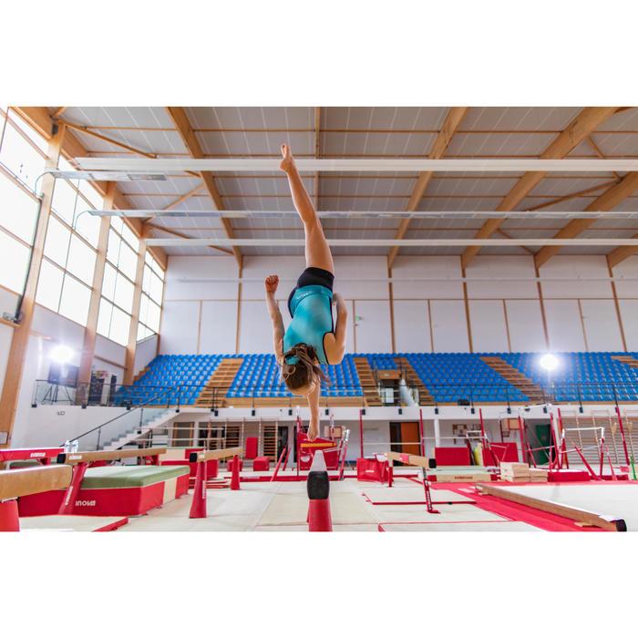 Gymnastikanzug Turnanzug ärmellos 500 grün