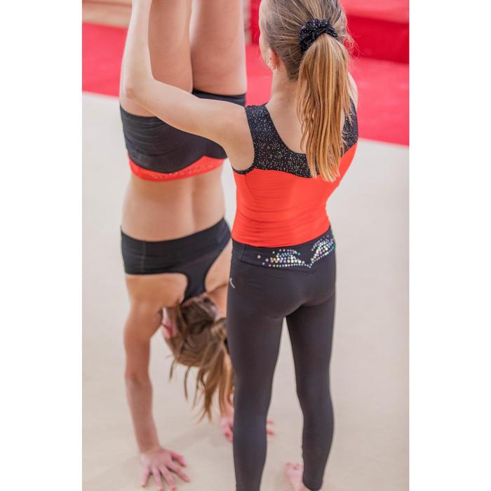 Gymnastikhose 500 schwarz mit Pailletten