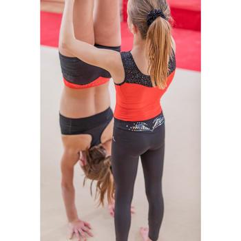 Leggings 500 de gimnasia artística femenina negro con brillo