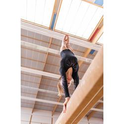 Justaucorps manches longues noir 500 Gymnastique Artistique Féminine