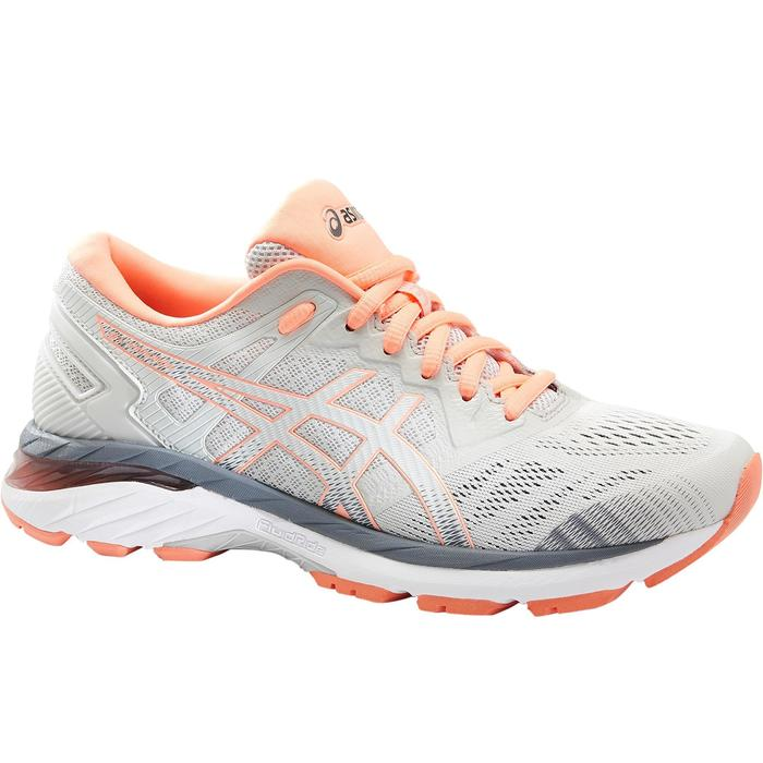 CHAUSSURE RUNNING FEMME GEL SUPERION GRISE ROSE