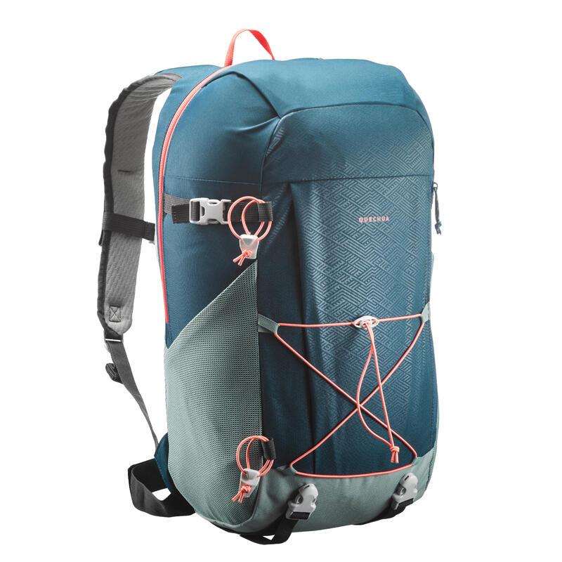 Mochila Pequeña De Montaña y Trekking Quechua NH100 30L Azul/Verde