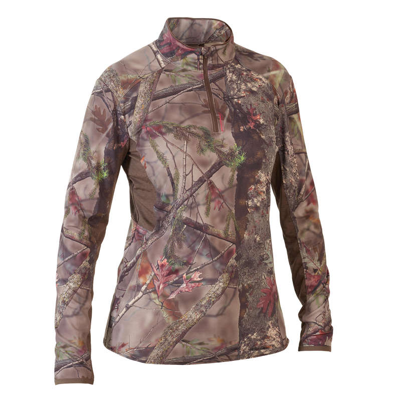HUNTING WOMEN CLOTHING Shooting and Hunting - CAMO500 LONG-SLEEVE T-SHIRT BR SOLOGNAC - Hunting and Shooting Clothing