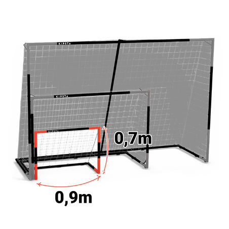 Ворота SG 500 для футболу, розмір 5 - Темно-сині/Червоні