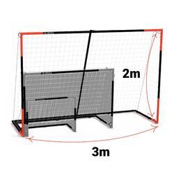 Voetbaldoel Classic Goal SG500 maat L 3x2 m marineblauw/rood
