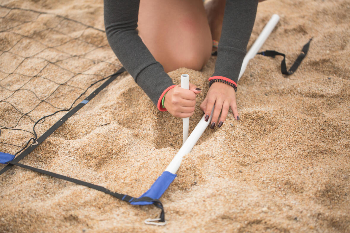 como montar a rede de voleibol de praia BV500?