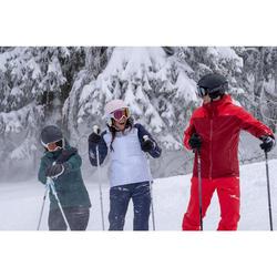 Skihelm voor pisteskiën volwassenen H PST 500 roze
