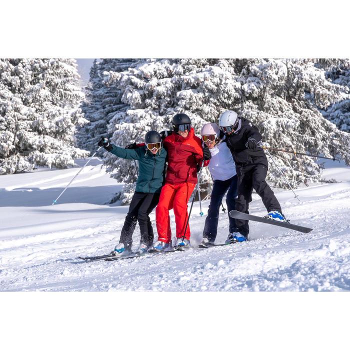 Ski-jas voor pisteskiën dames 500 groen