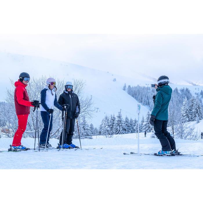 Winterjas dames ski waterdicht 500 skijas groen