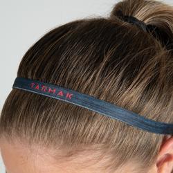 Set elastische haarrekkers voor basketbal dames zwart/grijs/rood