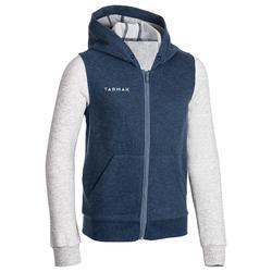 Boys'/Girls' Beginner Basketball Tracksuit Jacket J100 - Navy/Grey