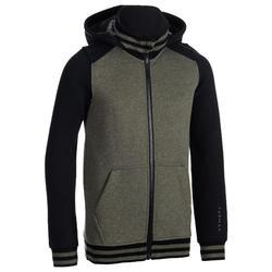 Boys'/Girls' Beginner Basketball Tracksuit Jacket J100 - Black/Green