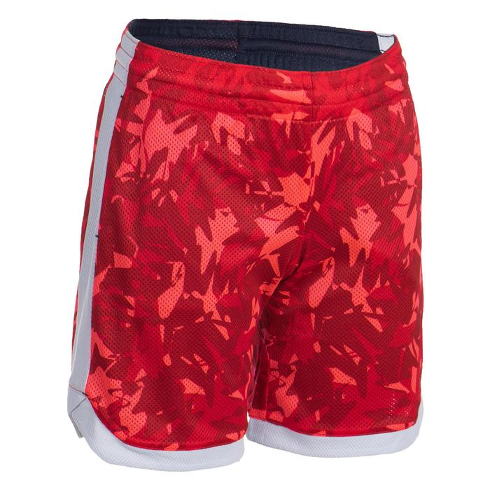 Pantalón Reversible Baloncesto Tarmak SH500R Niños Corto Rosa Azul