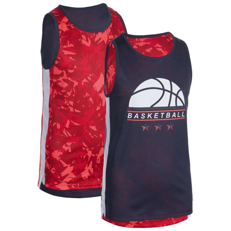 KIDS BASKETBALL OUTFIT Basketball - T500R Kids' Tank Top Pink/Navy TARMAK - Basketball