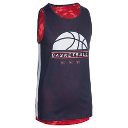 MAILLOT DE BASKETBALL REVERSIBLE GARCON/FILLE CONFIRME(E) ROSE NAVY BBL T500R