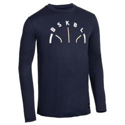 Camiseta de Baloncesto manga larga AZUL MARINO BSKBL