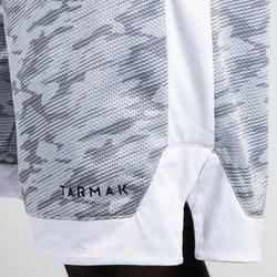 Men's Reversible Basketball Shorts - Mottled Blue/Grey