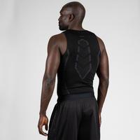 Camiseta térmica transpirable básquetbol sin mangas hombre UT500 Negro