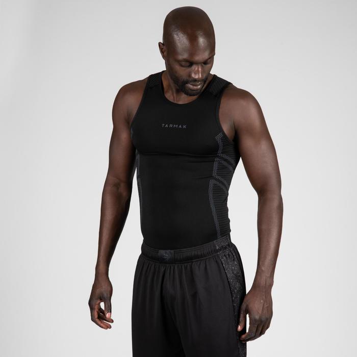 Sous-maillot respirant Basketball sans manches homme UT500 Noir