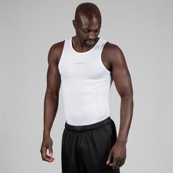 Camiseta térmica sin mangas transpirable de Baloncesto hombre UT500 Blanco