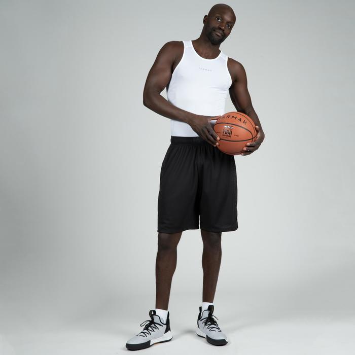 Ademend mouwloos ondershirt voor basketbal, voor heren UT500 wit