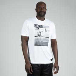 男款籃球T恤/運動衫TS500-白色照片