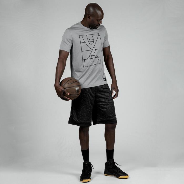 Maillot de basket TS500 Homme Gris Clair Playground
