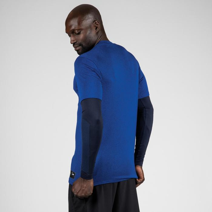 Basketbalshirt 900 met sleeves gevorderde heren marineblauw Houston