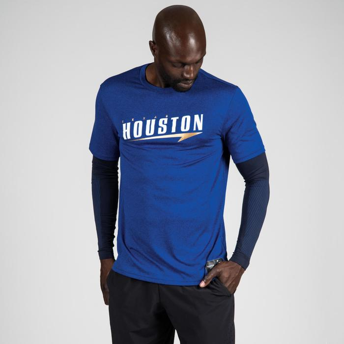 TEE-SHIRT BASKETBALL 900 AVEC MANCHON INTEGRE POUR HOMME EXPERT MARINE HOUSTON