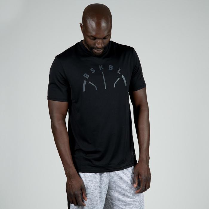 Camiseta de baloncesto TS500 Hombre Negro BSKBL