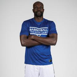 T-SHIRT / MAILLOT DE BASKETBALL HOMME TS500 BLEU TRAINING CAMP