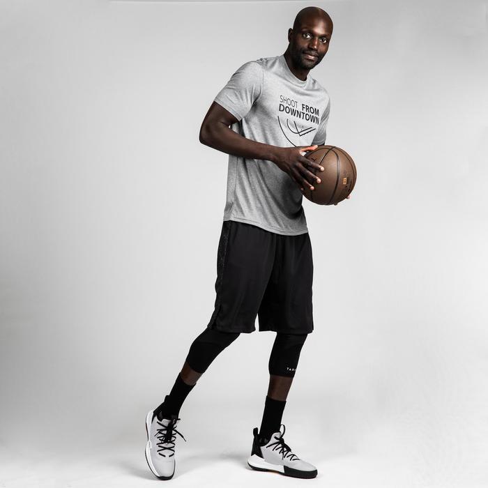 Basketbalshirt voor heren TS500 grijs Shoot From Downtown