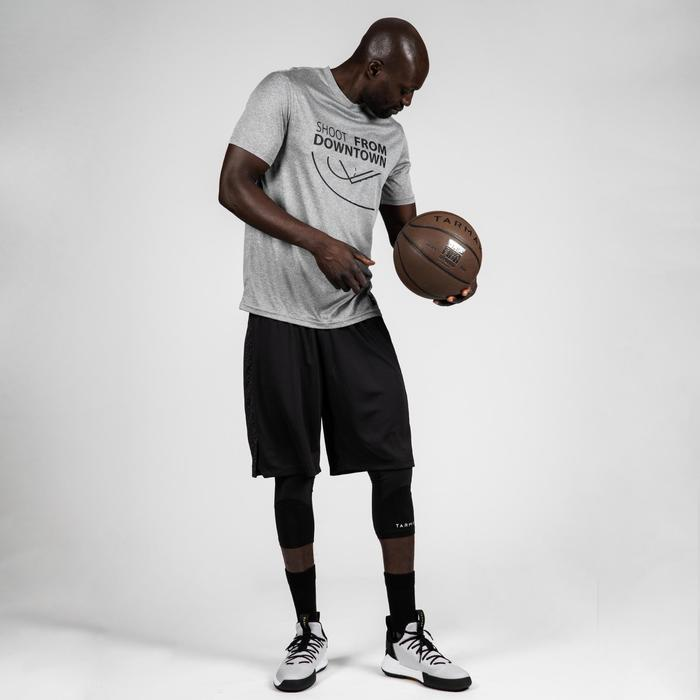 Camiseta de baloncesto TS500 Hombre Gris Claro Shoot