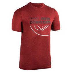Men's Basketball T-Shirt / Jersey TS500 - Red Shoot From Downtown