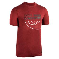 Basketbalshirt TS500 'Shoot' rood (heren)