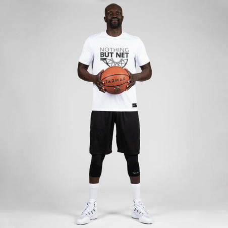 Men's Basketball T-Shirt / Jersey TS500 - White Nothing But Net
