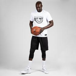 T-SHIRT / MAILLOT DE BASKETBALL HOMME TS500 BLANC NOTHING BUT NET
