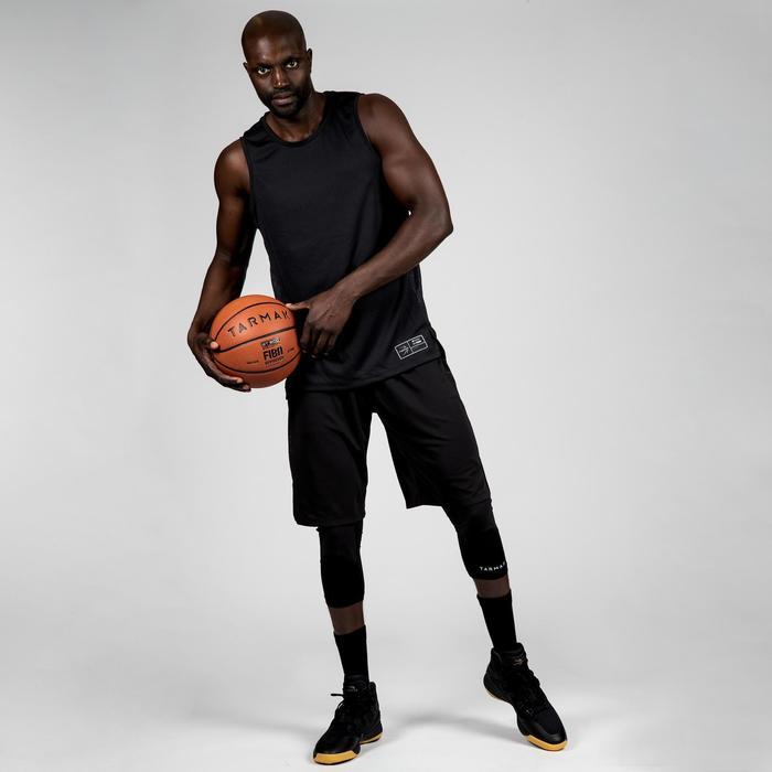 Basketbaltank voor heren T500 zwart/grijs