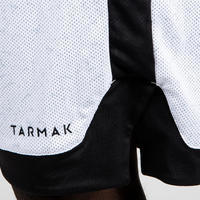 Reversible Basketball Shorts, Intermediate Players - White/Black
