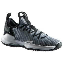 男款低筒籃球鞋Fast 500-灰色