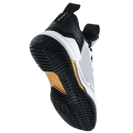 Sepatu Bola Basket Low-Rise Pria Fast 500 - Abu-abu